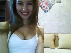 Brunette, Big Tits, Brunette, Solo, Strip, Webcam