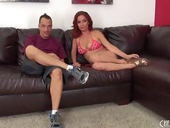 Sensual doggy style poking for the horny redhead Ashlee Graham