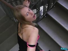 Milana in Nervous Russian accepts cash for sex from stranger - PublicAgent