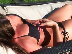 Slutty bikini babe was made for sex and fucks the gardener