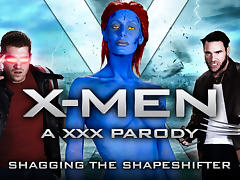 Nicole Aniston & Charles Dera & Xander Corvus in XXX-Men: Shagging the Shapeshifter XXX Parody - Brazzers
