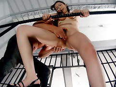 MILF Gets Rough Finger Banging - MilfsInJapan