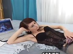 Perfect Natural tits Solo Masturbation x-rated performance. Enjoy watching