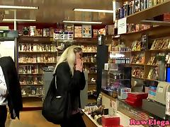 Caught, Anal, Caught, Double, European, Shop