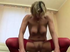 Young Boy Found Step-Mom in Lingerie and Seduce her to Fuck