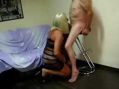 Blondie crossdresser blowjob compilation - part three