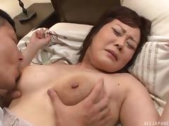 Japanese Granny, Asian, Big Tits, Fucking, Japanese, Mature