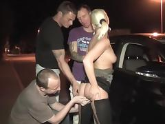 Really horny blonde crap Stuck waiting to be fucked around on the highway parking