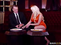 Busty Sandra just loves it when the guy passionately bangs her cunny!