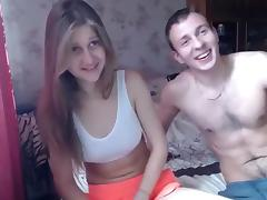 Russian, Blonde, Couple, Girlfriend, Russian, Webcam