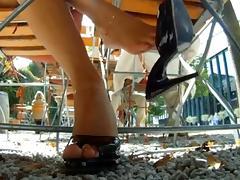 sexy heel & red toenail