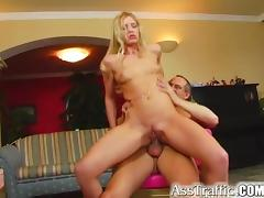 Ass Traffic Anal virgin Maria takes a toy up butt then a