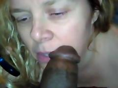 Sherrie - Mom Calls  while sucking dick