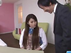 Runa Ayase, schoolgirl in heats, enjoys teacher┤s dick