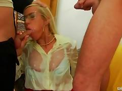 Celine and Bibi are elegant babes who love the facial cumshots