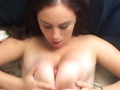 WOW HUGE Tits Cutie Gets TittyFucked FMJ