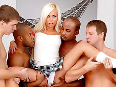 Sarah Lewis in University Gangbang #07 , Scene #02