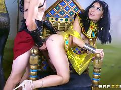 Rina is an Egyptian queen who just loves the good old cock riding!