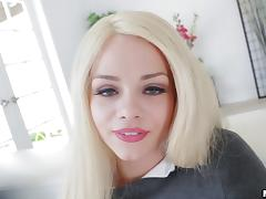 Skinny Elsa Jean looks fragile but she can easily handle the hard sex