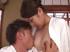 Tight Japanese babe is seduced and shagged by the flamboyant guy