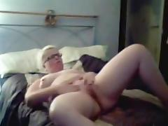 Blond Mature mastub