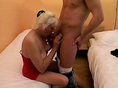 Old cunt is soaking wet for his big dick from behind