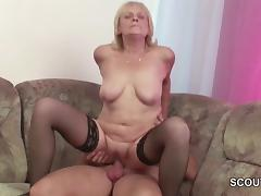 Frank 18yr old Seduce Granny to Get His First Fuck