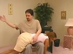 Ebony spanked  in the office