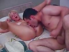 Old   junior - mom wakes stepson with a blowjob