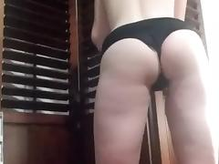Spanking from a riding crop