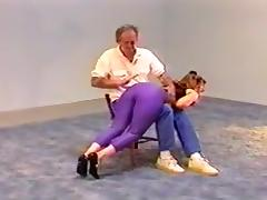 Spanking of georgette