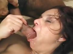 Mature Hispanic Woman In Threeway Sex