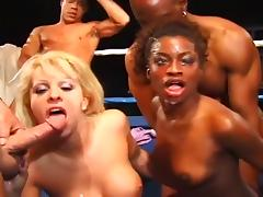 Monique and Dolly Golden Go Wild in Ring