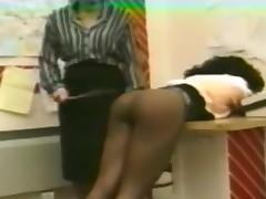 Vintage Ebony Spanking