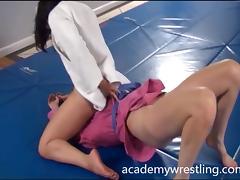 Wrestling, Catfight, Erotic, Fingering, Lesbian, Nude
