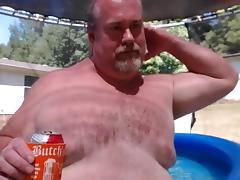 Dad, Nude, Pool, Dad, Daddy