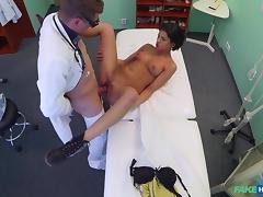 Coco in Foreign patient with no health insurance pays the pussy price for alternative treatment - FakeHospital