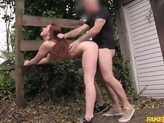 Zoe in Redhead from the Netherlands likes it rough - FakeTaxi