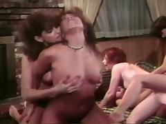 Lesbian Orgy, Bikini, Blonde, Brunette, College, Fingering