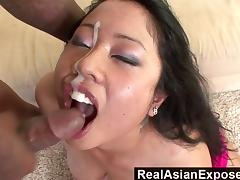 RealAsianExposed  Kya Tropics Holes Are Too tight For huge Black Cock