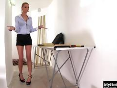 Insatiable classy broad Erica sucks on a monster member