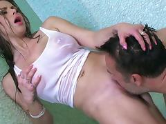 Wet beauty spins inches of hungry dick in extreme hardcore mode