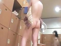 Hidden cam in japanese bathhouse locker room