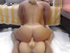 Ginetta_21: blonde sucks dick and rides on sex toy