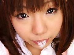Mahiru Tsubaki in Sweet maid, Mahiru Tsubaki is very busy today - AviDolz