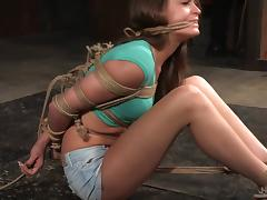 Will the sweet babe Kacy Lane handle such a rough bondage treatment?