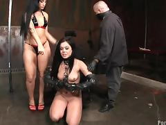 Tattooed slave with hot ass ravished hardcore mercilessly in femdom BDSM
