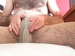 Horny in pantyhose and panties 2