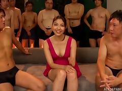 Gangbang adventure with lots of sticky cum for the sexy Saryuu