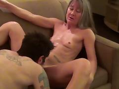 Glamorous matured granny coping up with massive cock hardcore